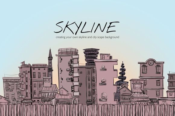 Skyline by Storyteller Imagery on @creativemarket