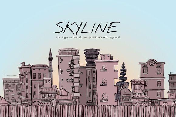 Skyline by Storyteller Imagery on @creativemarket
