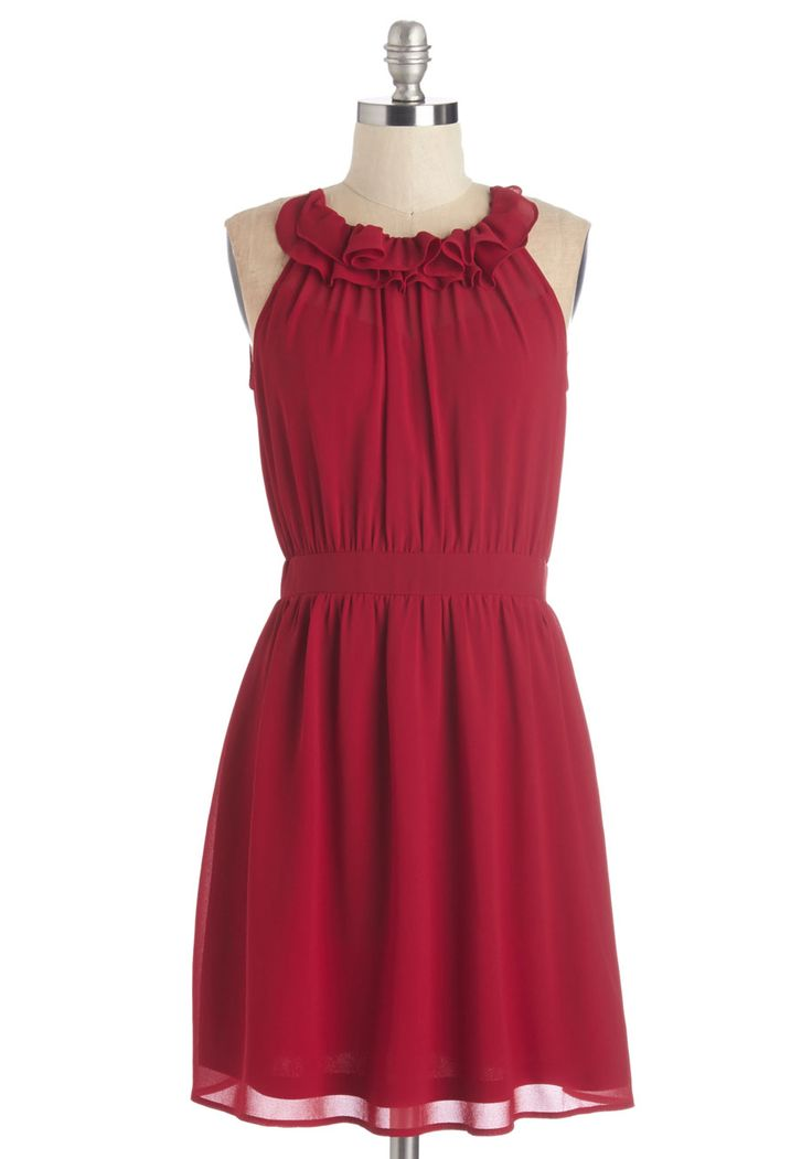 Charming in Crimson Dress.  #red #wedding #modcloth