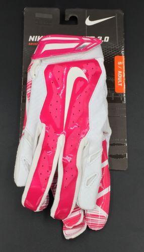 Nike Vapor Jet 3.0 Football Gloves Pink White Men's Small New
