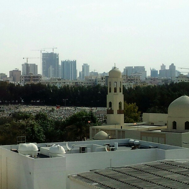 @lodgaard | View of Muslim/Christian/Jewish cemetary in #Bahrain