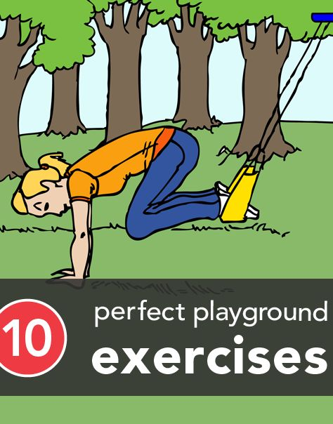 Next time you go to the playground, get in an awesome exercise! Whether you're there with your kids or going by yourself, you'll want to get this workout in!