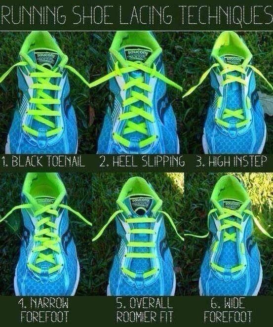 How to tie shoes for different foot shapes and running issues... I have a wide forefoot.