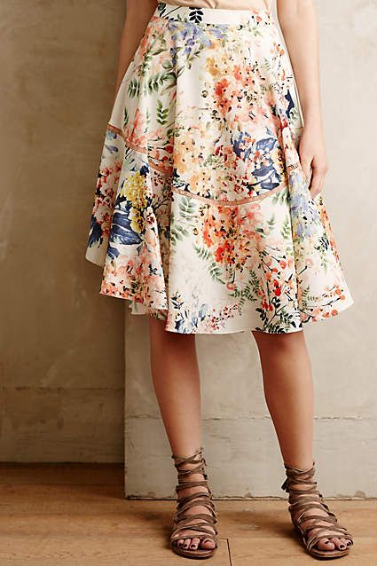 Cupro Skirt - Flowering Expectations by VIDA VIDA Cheap With Credit Card Cheap Price Low Shipping Fee Cheapest Discount Pick A Best 4q4Xa