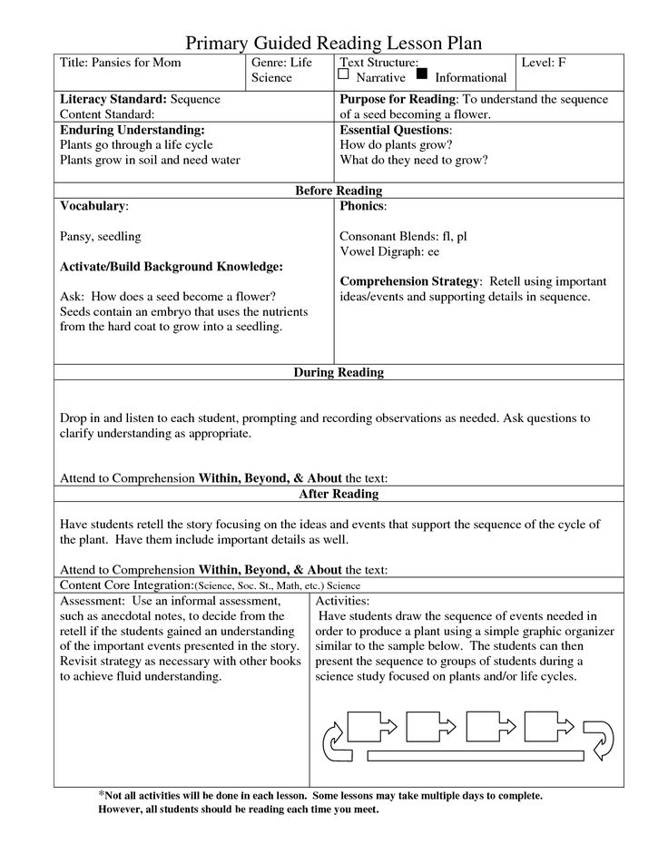 Guided Reading Lesson Plan Template Guided Reading Lesson Plan