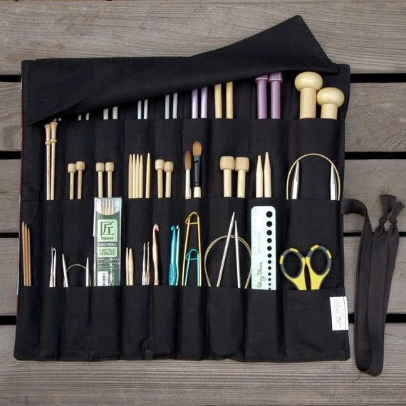 Knitting Needle Case or Art Tool Organizer  by lenabrowndesigns, $34.95