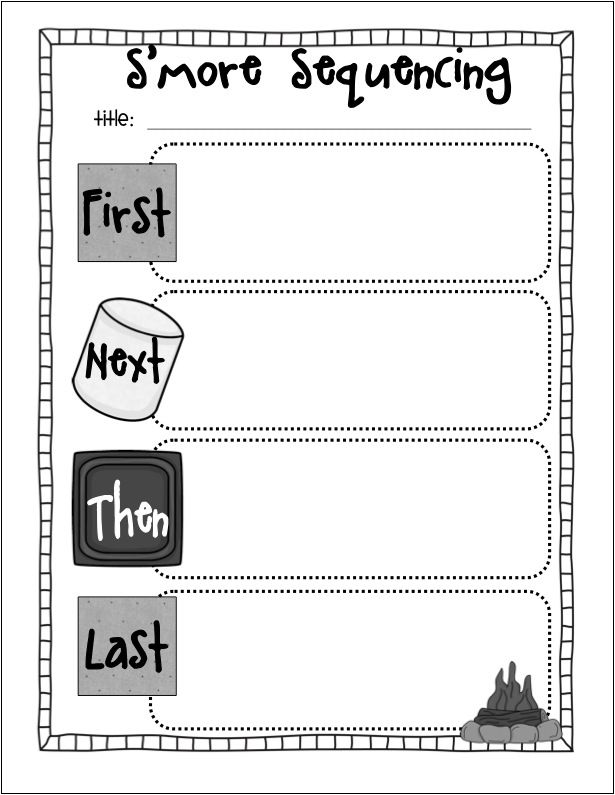 the creative chalkboard smore sequencing freebie - Halloween Sequences