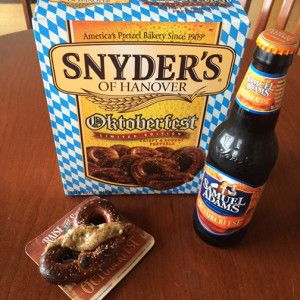 Celebrate Oktoberfest with Beer and Pretzels Paired with Samuel Adams Smoked #OctoberFest German Mustard!
