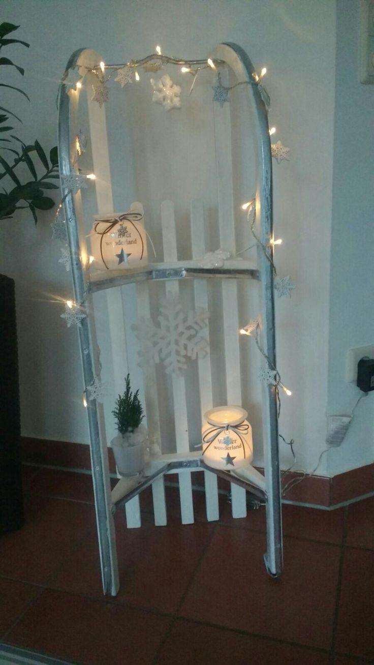 33 besten schlitten deko bilder auf pinterest deko weihnachten weihnachtsdekoration und - Weihnachtlich dekorieren wohnung ...