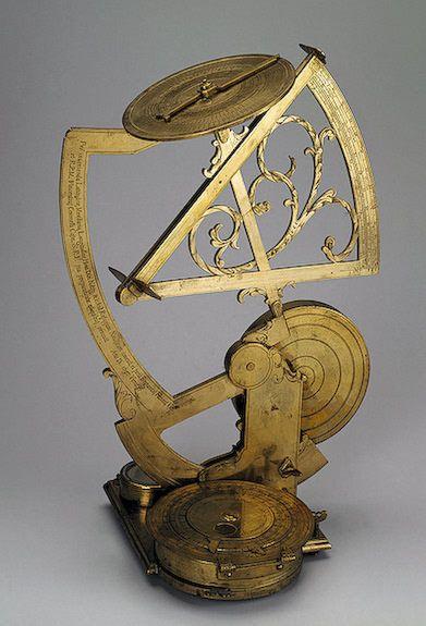 Nautical Astronavigational Instrument, c. 1697 (viaThe State Hermitage Museum)