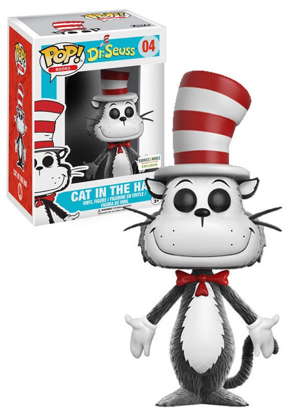 Flocked Funko POP Books: Dr Cat in the Hat B/&N Exclusive Seuss