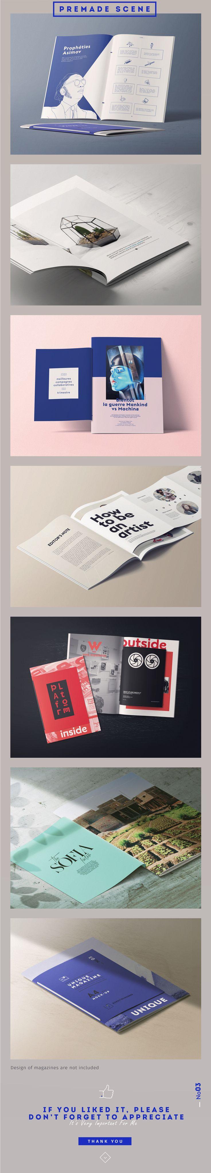 [25] UNIQUE MAGAZINES MOCKUPS/rope by Aleksey_Belorukov on @creativemarket