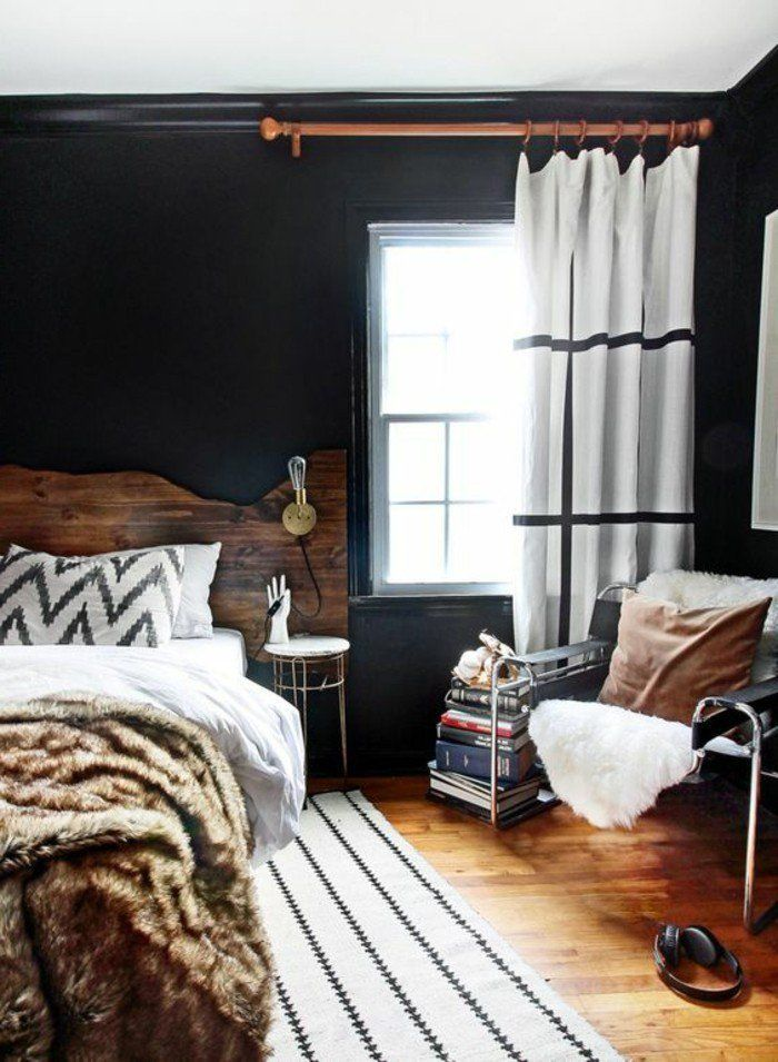 Emejing Chambre Ado Mur Noir Images - Antoniogarcia.info ...