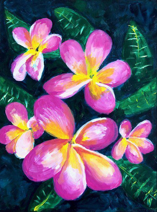 Plumeria Flowers Tropical Online Course Online Art Classes