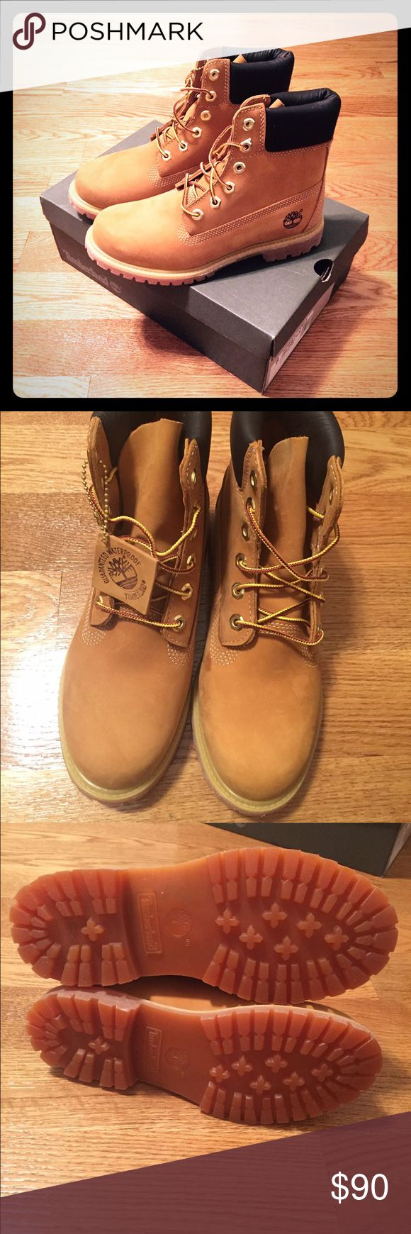 Women's Timberland classic boots (new with tags) Timberland boots, women's size 8, classic wheat color, new with tags - never worn Timberland Shoes Lace Up Boots