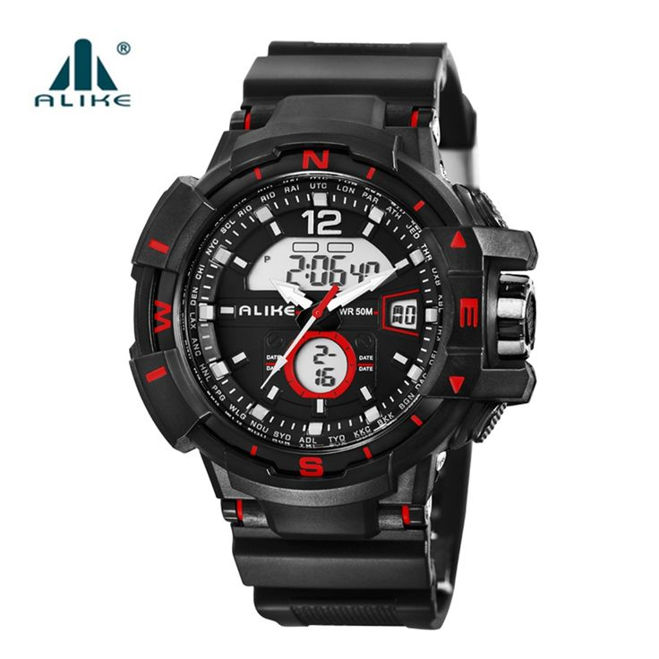 12.60$  Watch here - http://alij3b.shopchina.info/1/go.php?t=32684442512 - ALIKE 2016 New S Shock Military Army Quartz Digital Quartz-Watch Dual Time Man Sports Watches Men Reloj Hombre LED Wristwatches  #buyonlinewebsite
