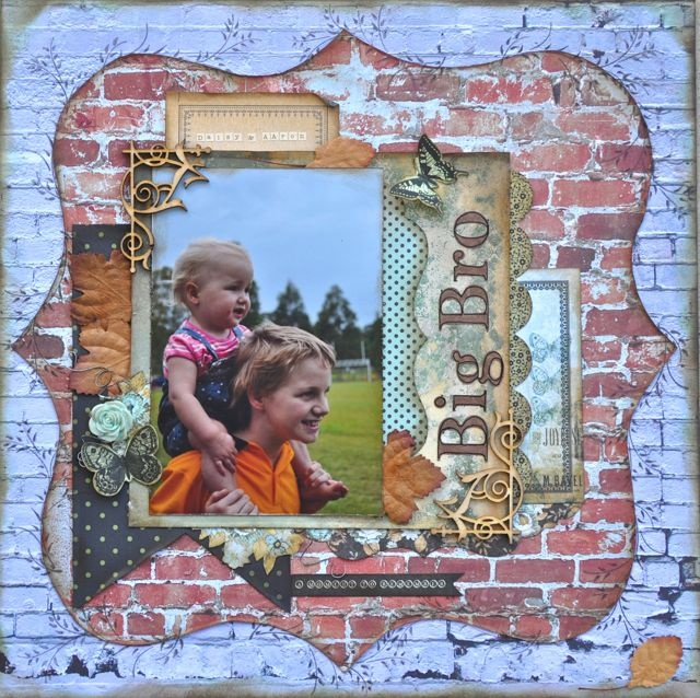 Kaisercraft - Base Coat collection scrapbook layout  From A Mothers Art... By Kelly-ann: 75 Cents & Base Coat - kaisercraft