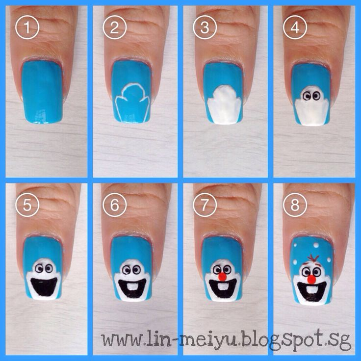 Olaf Nail Art Pictorial