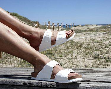 Sandalia tipo bio Blancas, para pies anchos