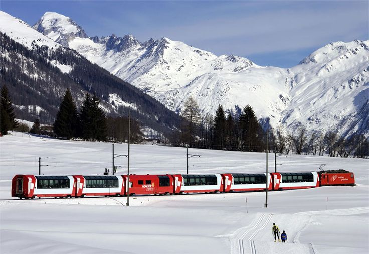 Glacier Express, the most famous of Swiss scenic rail journeys