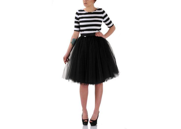 XL Geraldine Black -spódnica tiulowa od Free w Freeshion na DaWanda.com