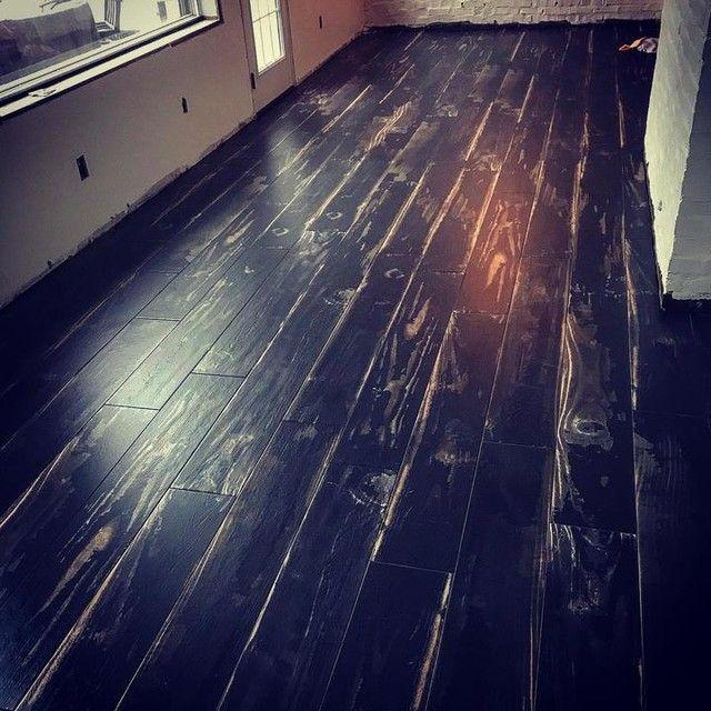 Burnt Wood Look Wall And Floor Tile 8 X 49 In Flooring Wall And Floor Tiles Tile Floor