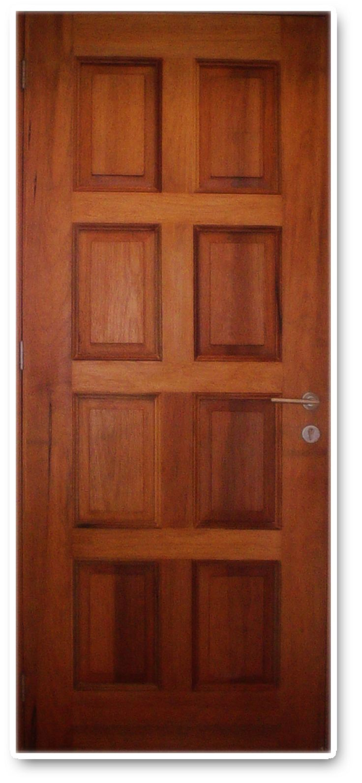 puerta 8 tableros madera cedro puerta pinterest