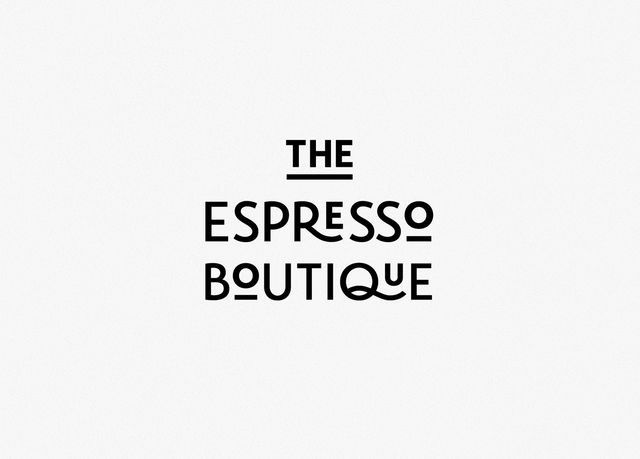 Nice Lettering of this coffee shop . The Espresso Boutique . Logo Design Inspiration