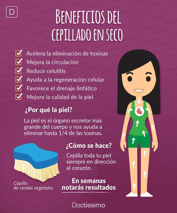 Beneficios del cepillado en seco contra la #celulitis.  #salud #belleza #tipsdebelleza #beauty