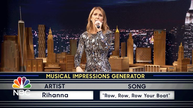 """Jimmy challenges Céline to a game of random musical impressions, such as Sia singing """"Hush, Little Baby."""" Subscribe NOW to The Tonight Show Starring Jimmy Fa..."""