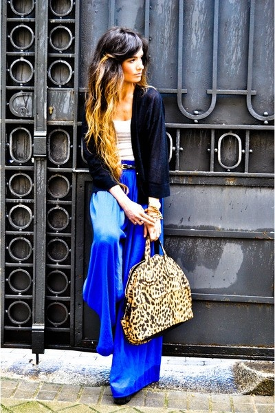 MaxiFashion, Style, Ombre Hair, Cobalt Blue, Outfit, Blue Pants, Isabel Marant, Hair Color, Electric Blue