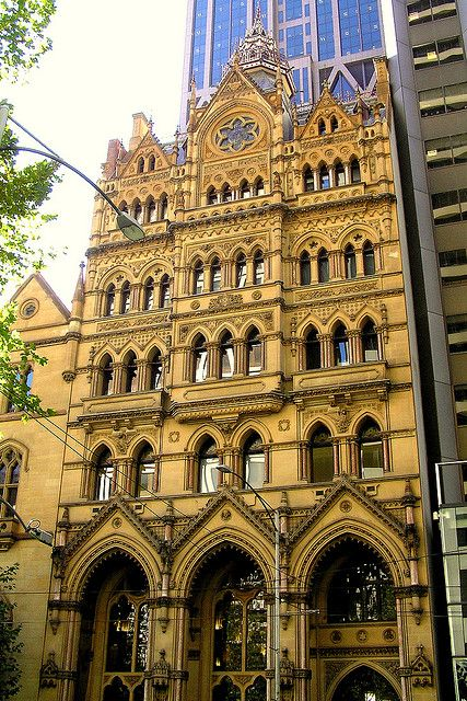 Former Melbourne Stock Exchange building, Collins Street, Melbourne. Built 1891. Architect: Wiliam Pitt.