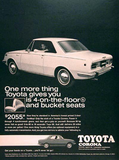 1968 Toyota Corona Coupe Ad