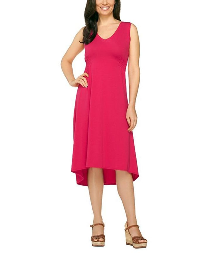 Another great find on #zulily! Rich Pink Weekend Hi-Low Dress - Plus Too by Susan Graver #zulilyfinds
