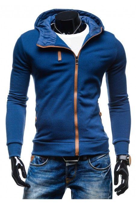 Pánská mikina L.EUROPE modrá