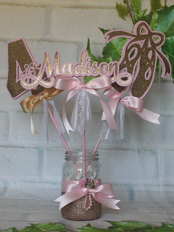 Ballerina centerpiece Ballerina party by JoSeasonsCrafts on Etsy
