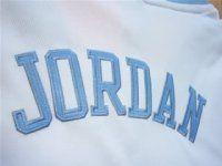 White Michael Jordan #23 North Carolina Jersey [F38]