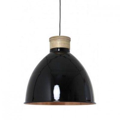 Ewood hanglamp, Brocant, hout, zwart