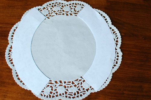 Cupcake Wrappers Made from Doilies: Free Cupcake Wrapper Template. This is a doily just a little over 11 inches in diameter. Just trace, cut, and tack together with a glue stick.