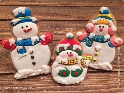 Кулинария Новый год Роспись Новогодние пряники Продукты пищевые фото 9