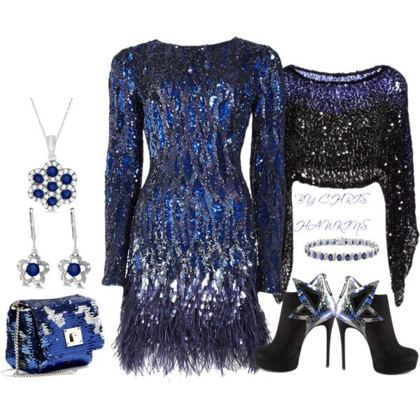 """""""SEQUINS AND SAPPHIRES"""" by chris-hawkins on Polyvore"""