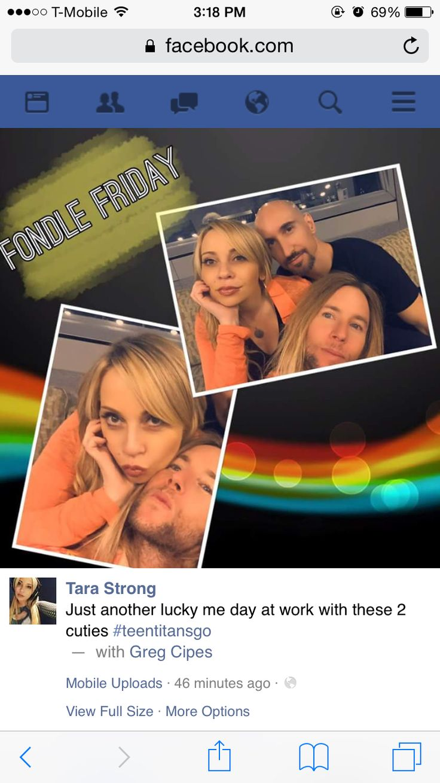 Greg Cipes x Scott Menville x Tara Strong #FondleFriday || 1.29.16