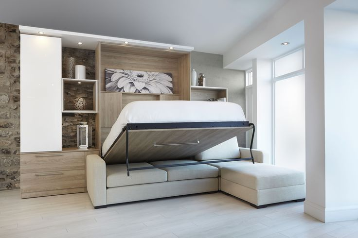 sofa lit escamotable murphy bed over sofa studio loft. Black Bedroom Furniture Sets. Home Design Ideas