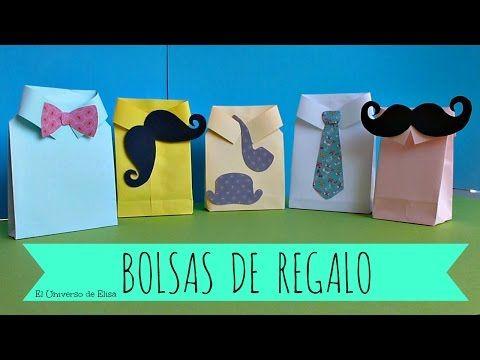 Bolsas de Regalo para el Día del Padre, Cómo hacer una Bolsa de Regalo con una Hoja de Papel - YouTube