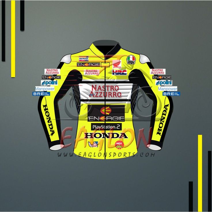 Description Valentino Rossi Honda Nastro Azzurro Motogp 2000 Leather Jacketis designed for professional bikers to show their love toward him and HondaBike on the track. This Jacketis made of Cowhide leather with thickness of 1.2-1.3 mm and Schoeller Kevlar Fabric for complete safety and comfort of rider. There is certified carbon inserted external protections and …