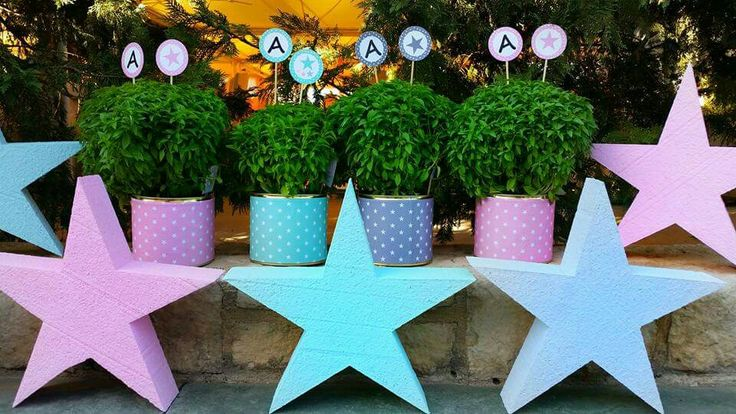 Metallic boxes with stars