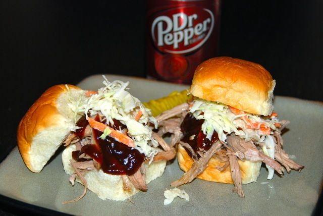 "... Pork Sliders with Light and Tangy Slaw from ""Flying on Jess Fuel"