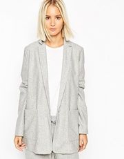 ASOS WHITE Blazer in Punched Wool
