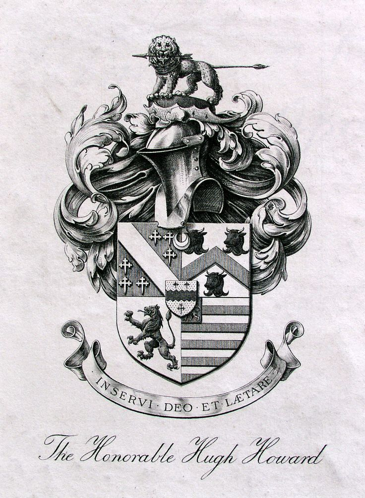 Bookplate of The Honorable Hugh Howard