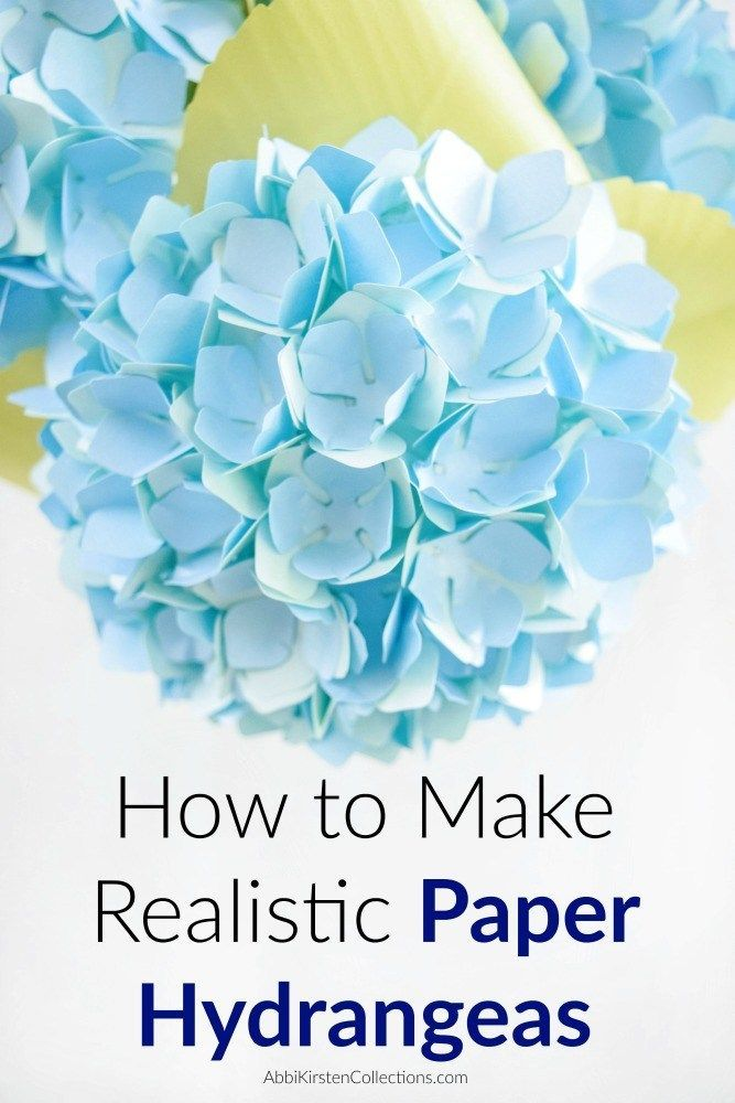 Diy Paper Hydrangea Flowers Templates And Tutorial Paper Flower Tutorial Flower Template Paper Flowers